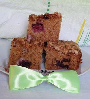 smaki życia Ewy: Ciasto z owocami z mąką pełnoziarnistą