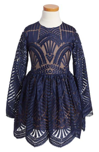 Bardot Junior Embroidered Mesh Dress (Little Girls & Big Girls) available at #Nordstrom
