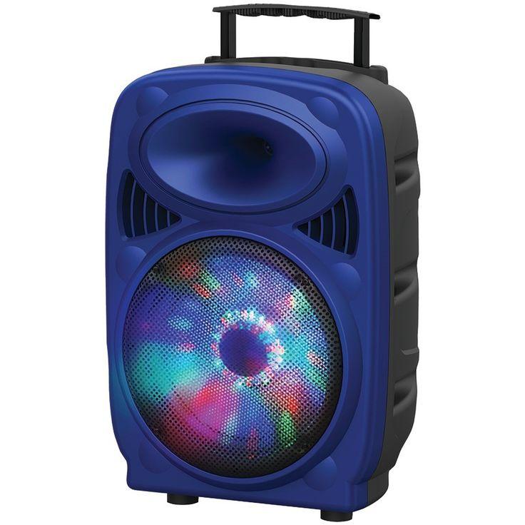 Supersonic iq-3212djbt-BL 12 Portable Bluetooth(R) DJ Speaker (Blue)