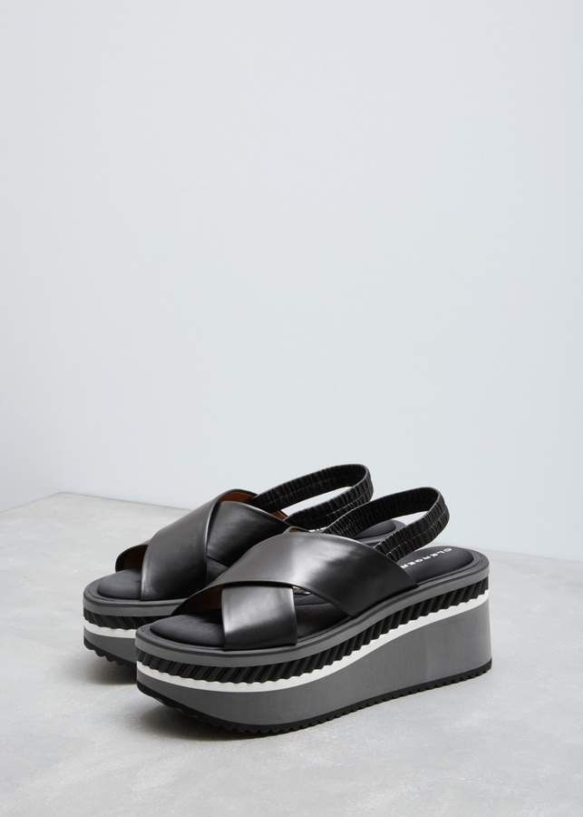 b94ab04a24c12 30% OFF - Black Platform Leather Sandals    cute shoes for summer style  outfit ideas  fashion chunky sandals