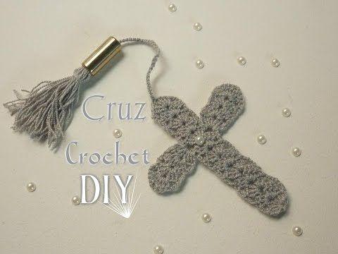 Manualidades: Crochet, (Souvenir Primera Comunión) DIY- (Souvenir or Separator First Communion) - YouTube