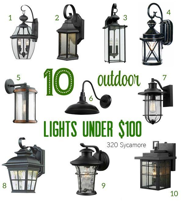 Outdoor Light Fixtures Outdoor Light Ideas Under 100 320 Sycamore Outdoor Lighting Outdoor Light Fixtures Porch Lighting