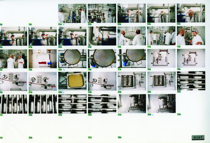 Contact sheet of the KORRES herb extraction facility