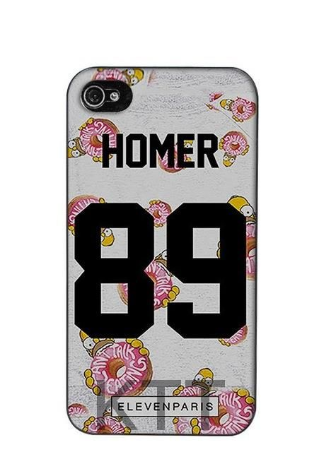 Homer Eleven Paris Coque 89 Tpu Nero cell phone bags case cover for iphone 4S 5S 5C SE 6S 7 PLUS IPOD Samsung NOTE IPOD HTC SONY