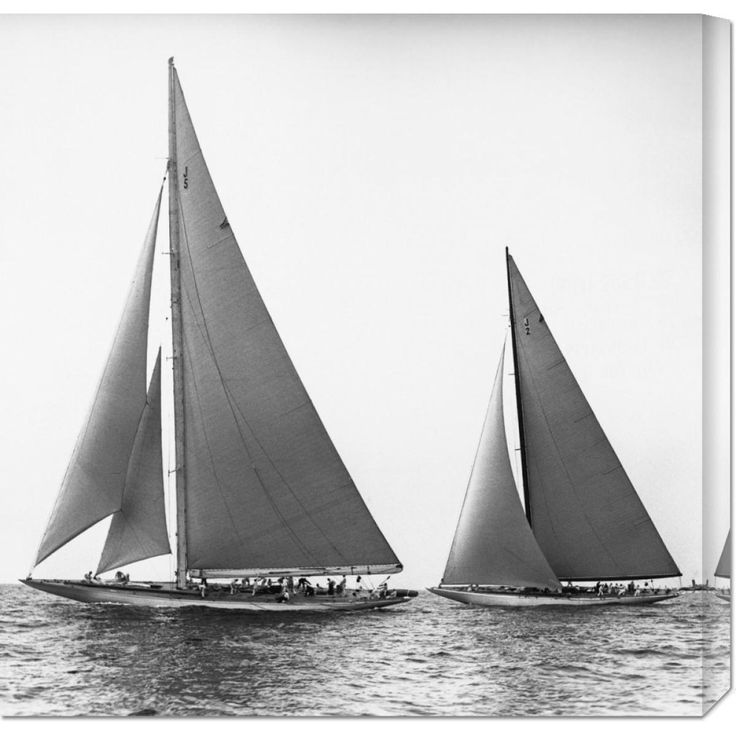 Big Co. Edwin Levick 'Sailboats in the America's Cup, 1934' Stretched