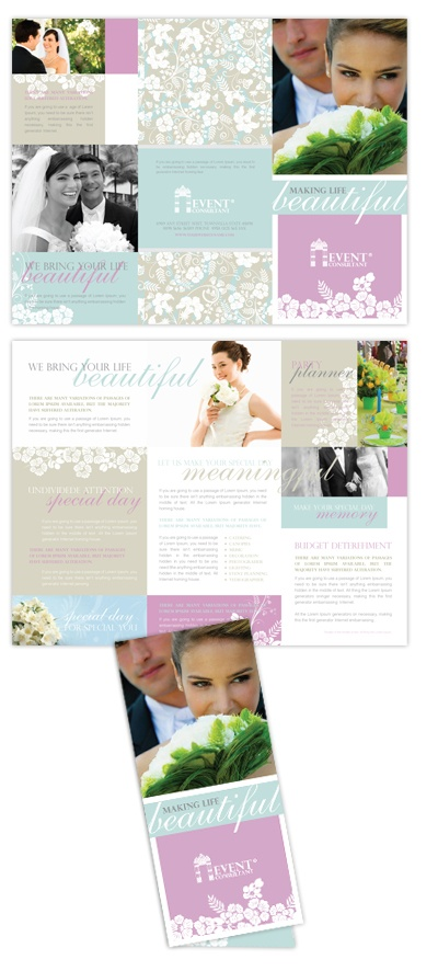 Более 25 лучших идей на тему «Wedding ceremony booklet templates - event brochure template