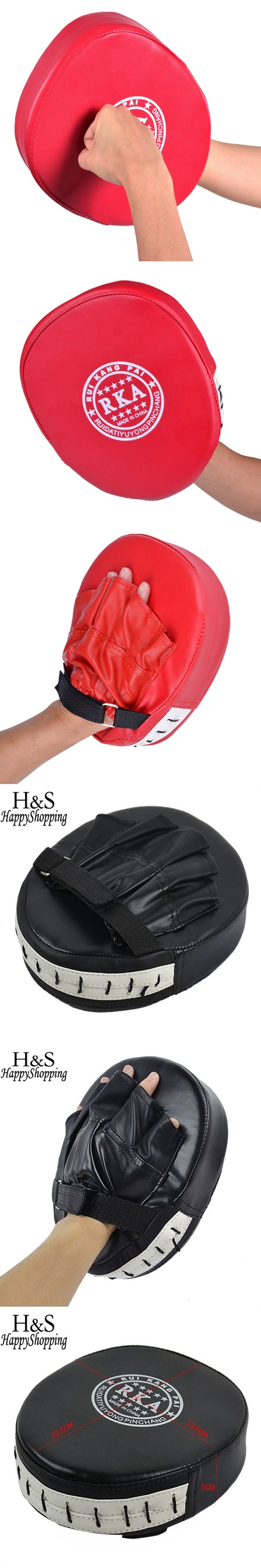 High Quality 1 Piece Black/Red Boxing Mitt MMA Target Hook Jab Focus Punch Pad Safety MMA Training Gloves Karate Luva De Foco