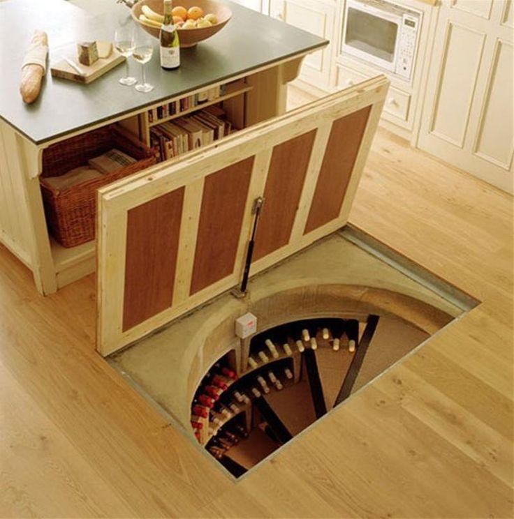 Love this idea for a wine cellar