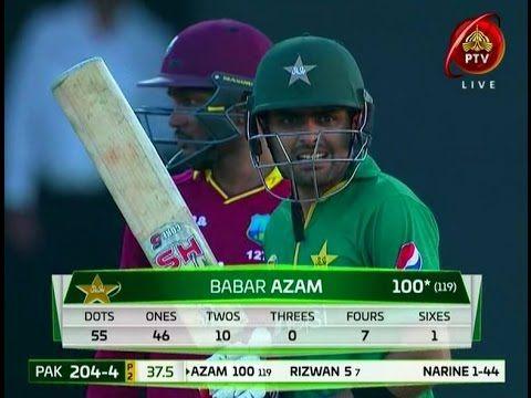 Babar Azam 117 Runs 106 Ball Pakistan Vs West Indies 3rd Odi