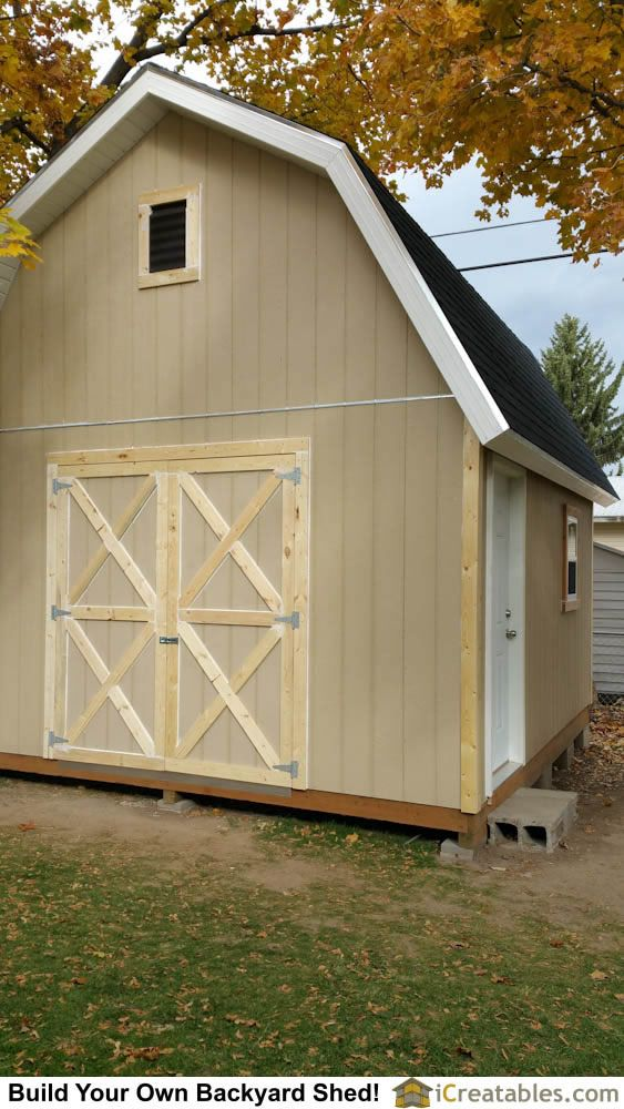 Gambrel shed plans by iCreatables Sheds 10
