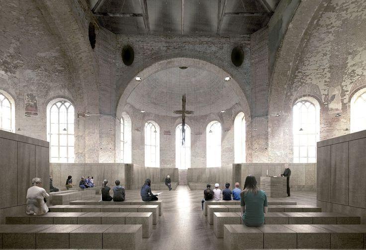 Max Dudler . Parochialkirche refurbishment  . Berlin (1)