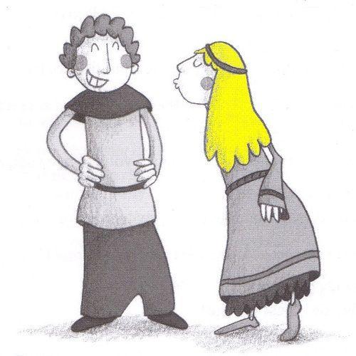 Une saynète de 5-10 minutes sur le thème des princesses et des chevaliers pour initier les enfants au théâtre !!