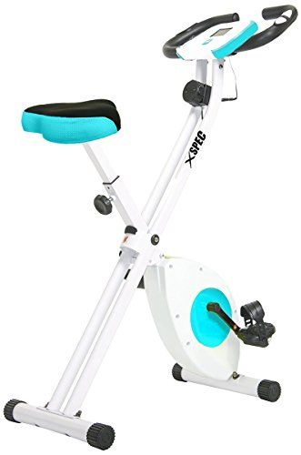 Xspec Foldable Stationary Upright Exercise Bike Cardio Workout Indoor Cycling *** You can find more details by visiting the image link.