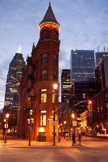 Flatiron building in Toronto, Canada