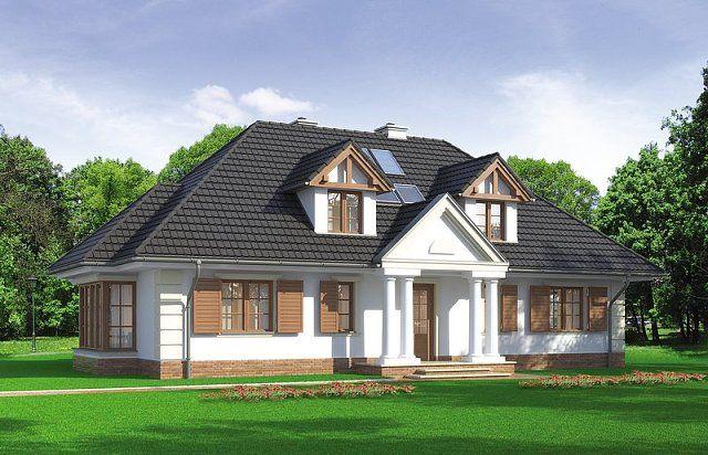 wizualizacja projektu domu LK 748 [LK-657]
