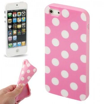 Dot Stylish TPU Shell for iPhone 5 - Pink
