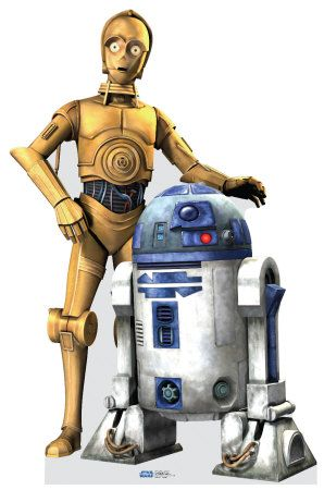 C3PO and R2D2 - I love these guys.