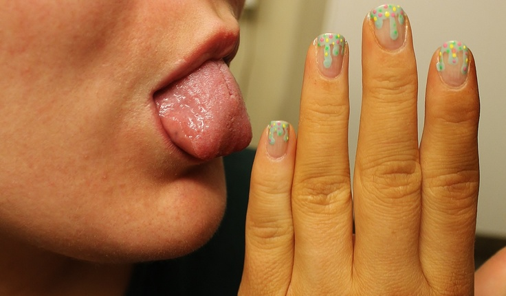 Melting ice cream nails. YUM! :D