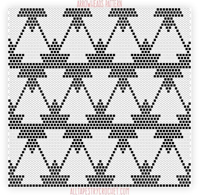 Here's a fun pattern that mixes geometrical, clean shapes with tribal elements. It's a bit tricky to the eyes, but not at all tricky to crochet. Graphed in black and white, it has a cla…