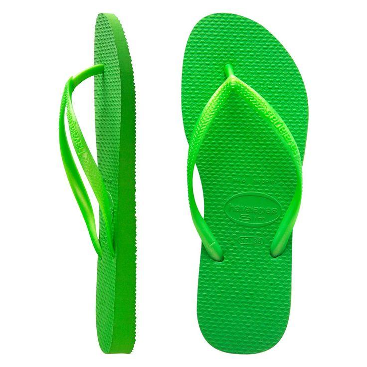 Havaianas Slim Metallic Neon Green $29.99
