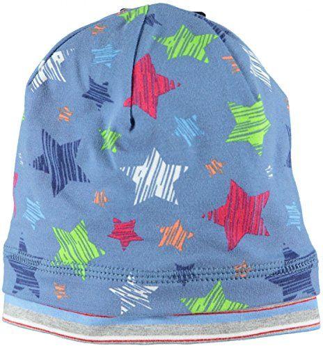 #Jungen #Beanie #Mütze Jungen Beanie Mütze, , Stylisch durch den Herbst kommen coole Kids mit der Beanie von maximo. Bunte Sterne auf blauem Untergrund machen die Mütze zum absoluten Hingucker., weiche, anschmiegsame Single-Jersey-Qualität, optimale Passform wird durch den geringen Elasthan-Anteil gewährleistet, Material: 95% Baumwolle, 5% Elasthan, Futter: 100% Polyester