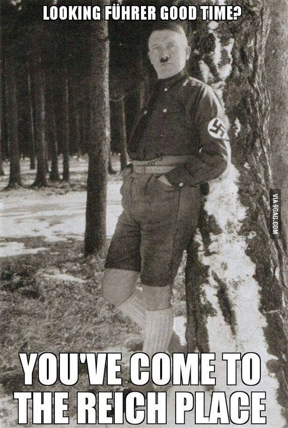 Put your best Hitler joke in the comments