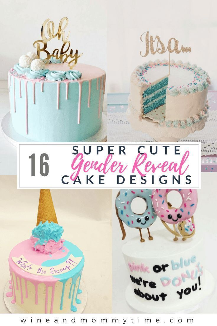 16 Gender Reveal Cake Designs With Images Baby Reveal Cakes