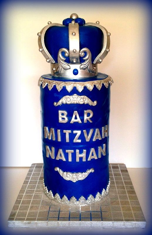 37 Quot Bar Mitzvah Cake By Riky S Cakes Cakes Pinterest
