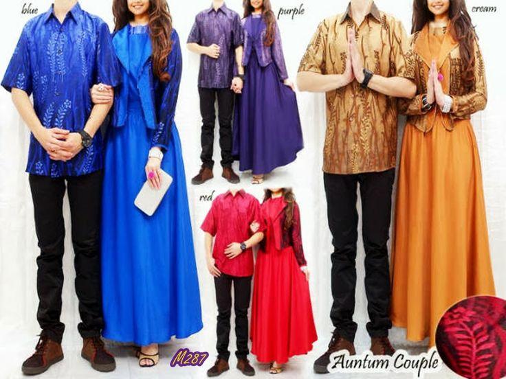 Busana Muslim (GAMIS) - Auntum Cuple Kode Baju : M287 Harga : 235,000 IDR Model Pakaian : Auntum Couple Jenis Bahan : (Women) Satin Velvet + Blazer Silk (Man) Shirt Satin Silk (No-Inner) Ukuran : (Free Size / Fit to L) --- Contact : Deni - 083815838155/768FF8FA