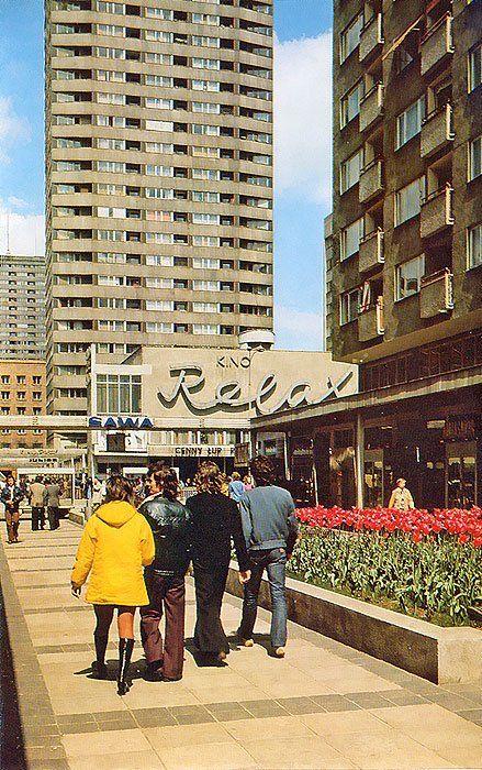 """Warszawa, Centrum, kino """"Relax""""."""