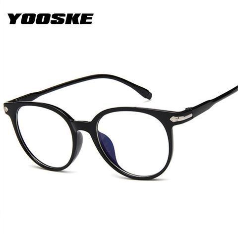 dff06d99b0 YOOSKE Clear Fake Glasses Men Vintage Round Optical Eye Glasses Frames  formodlilj