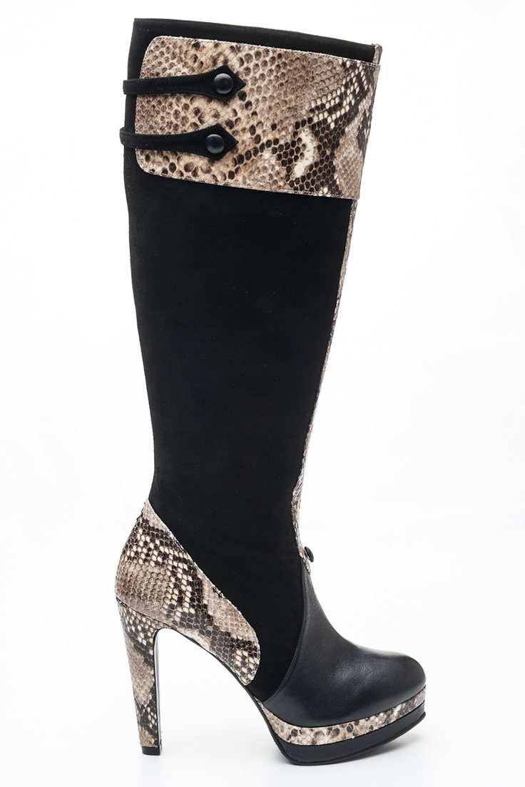 Bota DIVINE  Ankle boot brown and snake
