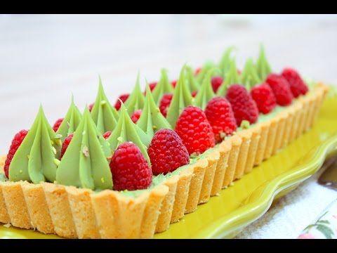 Фисташковый Малиновый Тарт / Pistachio Raspberry Tart - YouTube