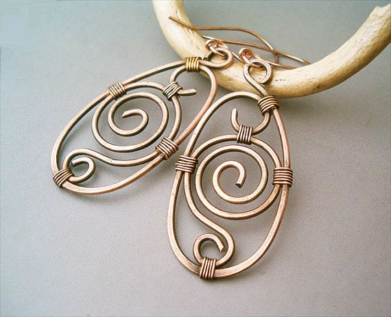 Hey, I found this really awesome Etsy listing at https://www.etsy.com/listing/157476182/wire-wrapped-earrings-old-looking-copper