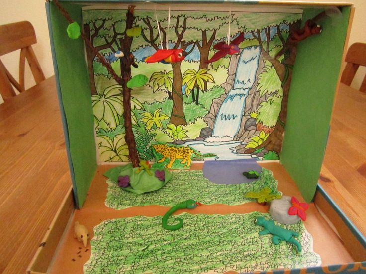 Rainforest Diorama Habitat Lesson