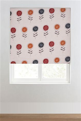 Buy Retro Floral Printed Roller Blind from the Next UK online shop