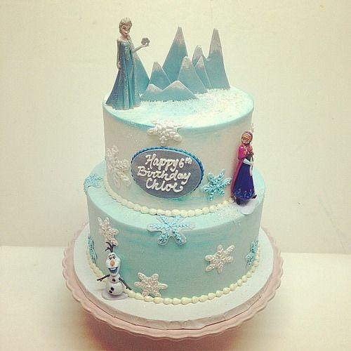Frozen birthday cake #polkadotscupcakefactory