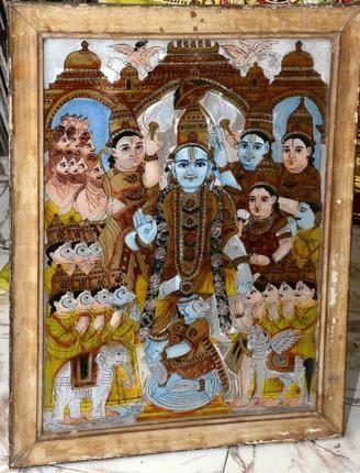 Glass painting Tamil Nadu