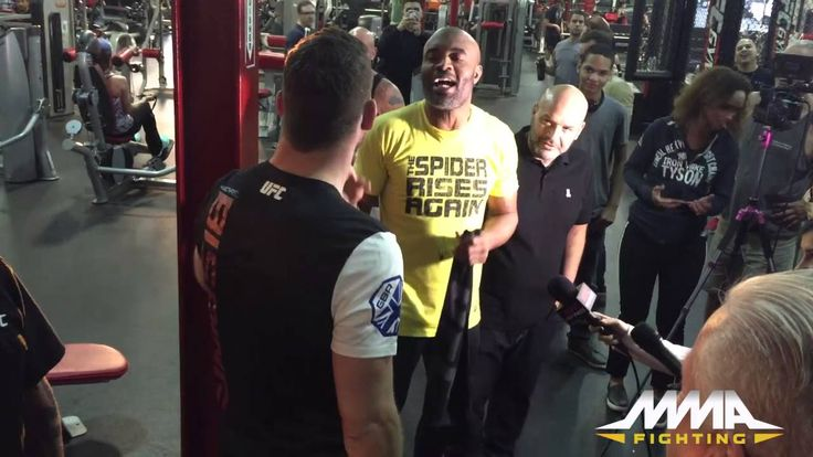 UFC News: WATCH Anderson Silva, Michael Bisping almost caused a brawl during media event - http://www.sportsrageous.com/sports/michael-bisping-anderson-silva-get-into-a-fight/7397/