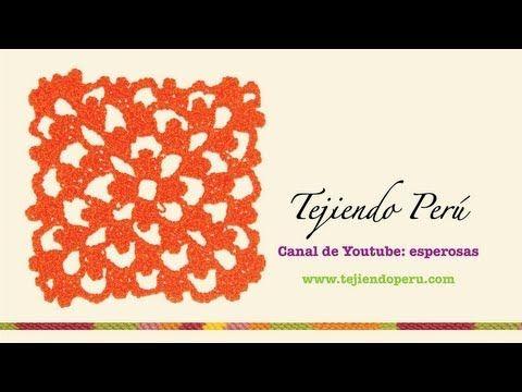 Punto fantasía en crochet # 18: tejiendo en cuadrado infinito - YouTube