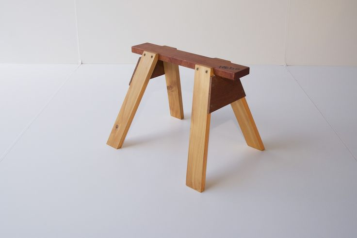 Wooden sawhorse - available at www.hebe.kiwi.nz