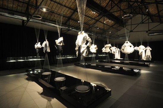 Gianfranco Ferre white shirt exhibition