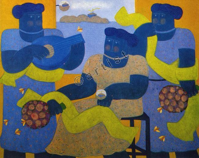 Φαίδων Πατρικαλάκις, Χωρίς τίτλο, 1982, λάδι σε μουσαμά