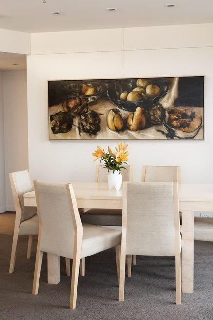 Dining area with Dean Home artwork. Brooke Aitken Design.