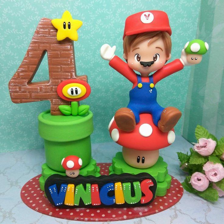 Vela decorativa do tema : Mario