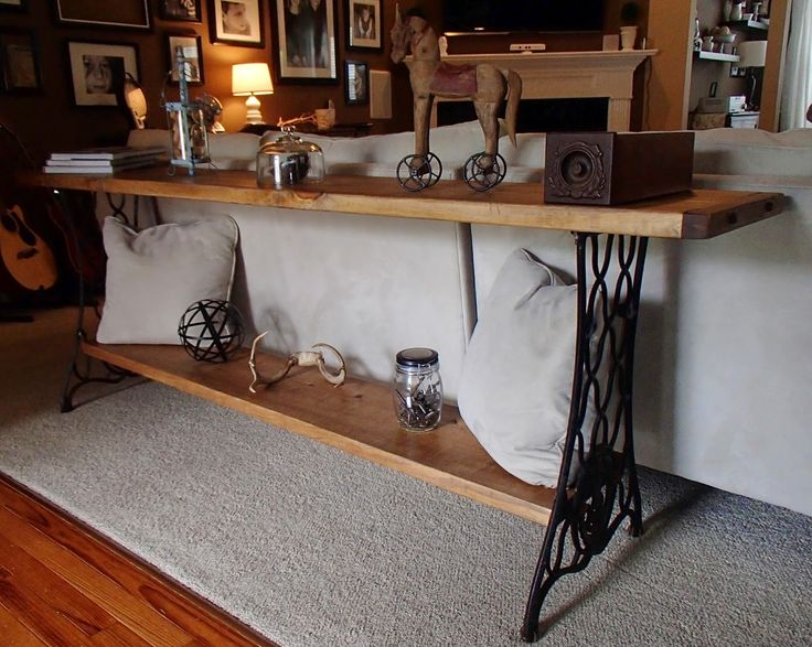 New Again: Singer Sewing Machine Sofa Table