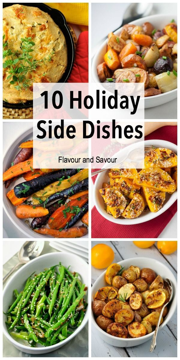 Recipes for ten favorite healthy holiday side dishes, including cider roasted vegetables, chili garlic butternut squash, and honey-mustard glazed carrots. Lots more ideas for a healthy holiday dinner!