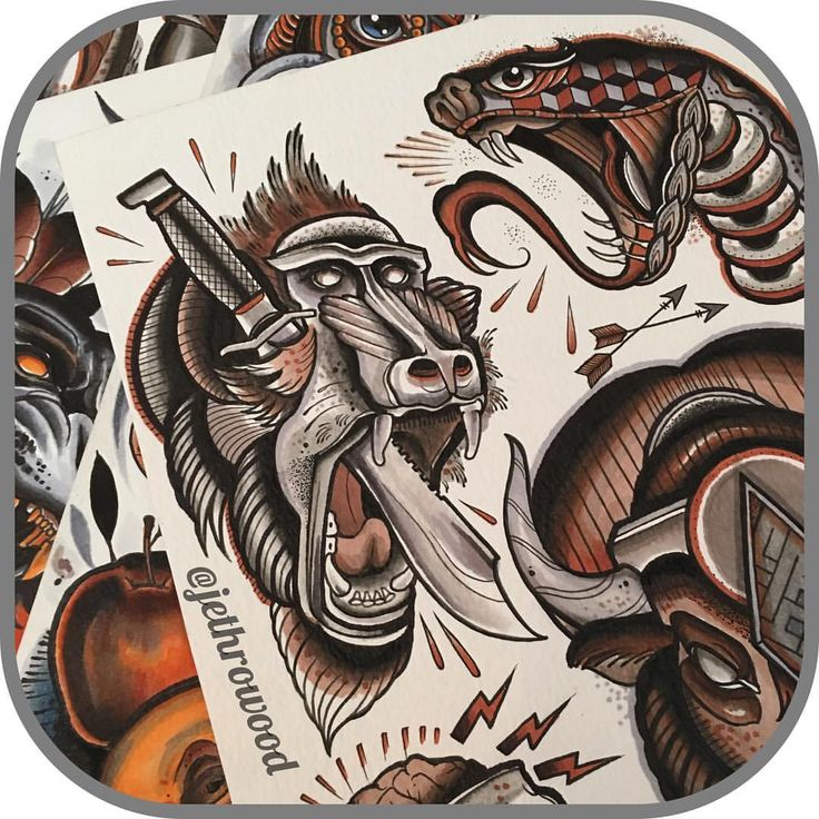 352909dbb Neo Traditional / New School Neo Traditional Tattoo Flash: 848 Best Images  About Tattoo Sketch On Pinterest