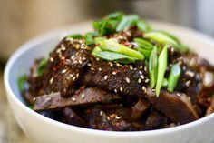 Crockpot galbi - Korean shortribs. One of our FAVORITE RECIPES EVER. You have to get bone-in ribs for best flavor. We get ours from Kroger.