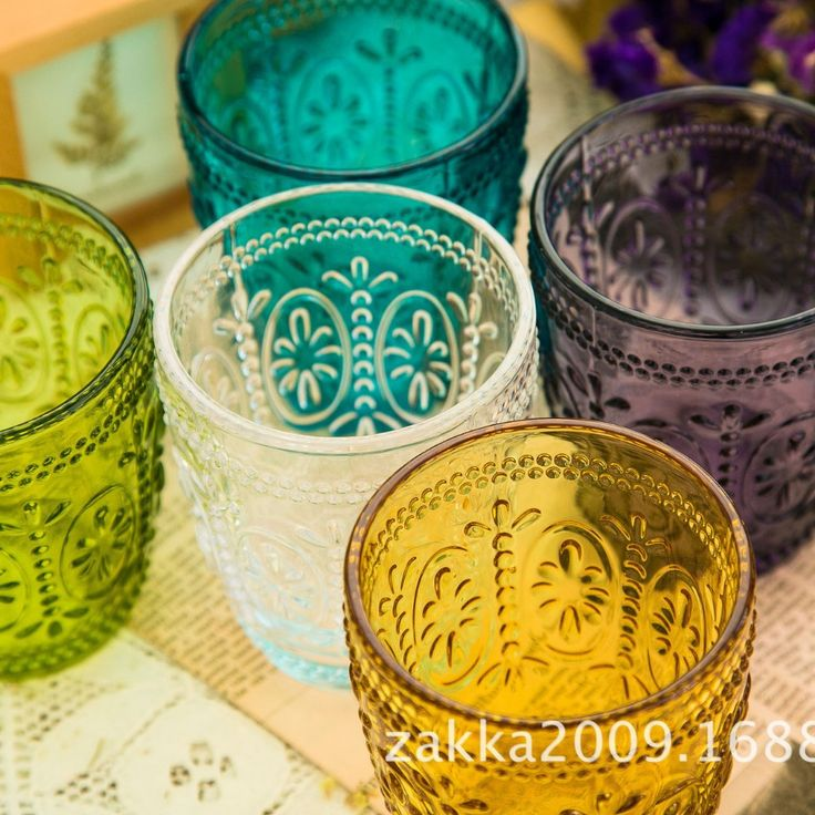 Cheap decorating with tea cups, Buy Quality cups shapes directly from China decorating paper cups Suppliers: New arrival Zakka Sunflower embossed glass champagne glasses cups Color carved glass 50-100ml Holiday's gifts Home deocr